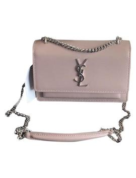 Monogram Sunset Sunset Poudre Leather Cross Body Bag by Saint Laurent