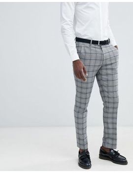 Asos Design Skinny Suit Trousers In Prince Of Wales Check by Asos Design