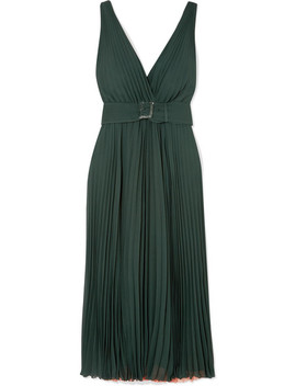 Plissé Silk Crepe De Chine Gown by Fendi