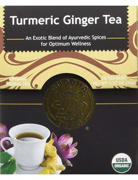 Organic Turmeric Ginger Tea   Kosher, Caffeine Free, Gmo Free   18 Bleach Free Tea Bags by Buddha Teas