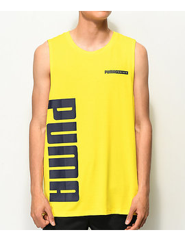 Puma Forever Yellow & Black Tank Top by Puma
