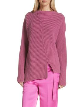 Asymmetrical Wool & Cashmere Sweater by Robert Rodriguez