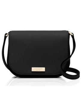 Laurel Way Large Carsen Black Leather Cross Body Bag by Kate Spade