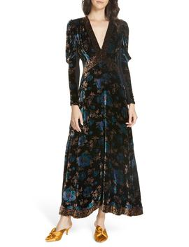 Solstice Velvet Maxi Dress by Rebecca Taylor