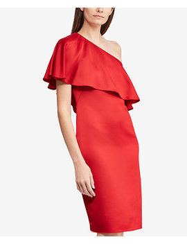 Satin One Shoulder Dress by Lauren Ralph Lauren