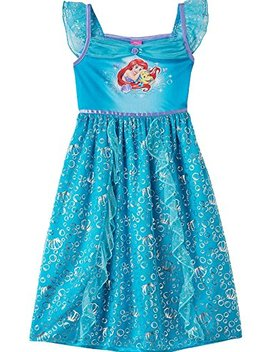 The Little Mermaid Ariel Girls Fantasy Gown Nightgown Pajamas (Toddler/Little Kid/Big Kid) by The Little Mermaid