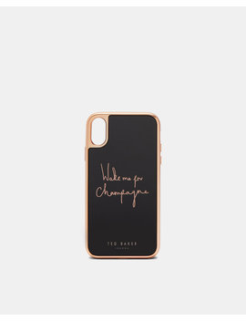 'Wake Me For Champagne' I Phone Xr Case by Ted Baker