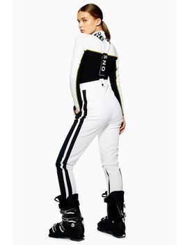 **White Colour Block Trousers By Topshop Sno by Topshop
