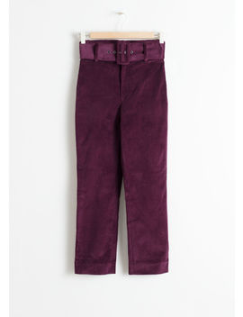 Belted Slim Corduroy Pants by & Other Stories