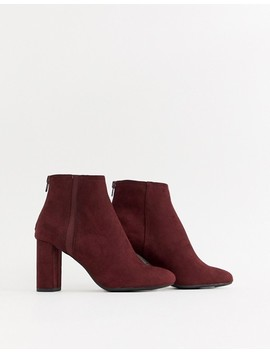 New Look   Chelsea Boots Met Hak In Donkerrood by Asos
