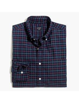 Slim Fit Flex Oxford Shirt In Small Tattersall by J.Crew