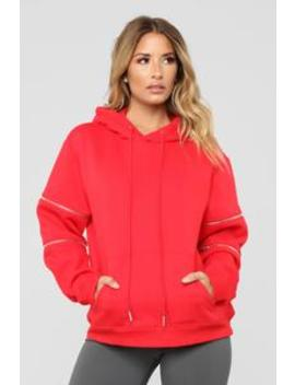 You're So Edgy Hoodie   Red by Fashion Nova