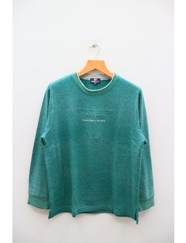 Vintage Michiko London Jeans Designer The Perfect Garment For Work And Play Green Sweater Sweatshirt Size Xxxxl by Etsy