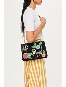 Monkey Floral Shoulder Bag by Topshop