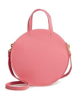 Petit Alistair Leather Circular Crossbody Bag by Clare V.