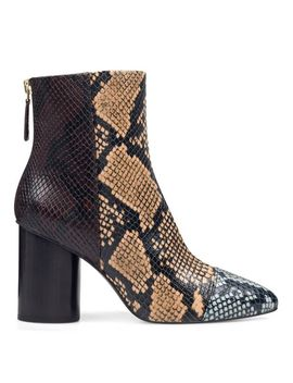 Cabrillo Cylinder Heeled Booties   Multi Faux Snake by Nine West