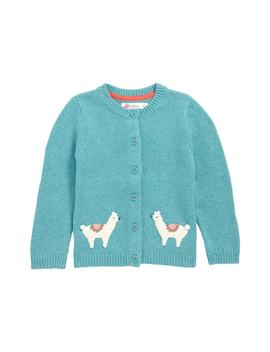 Characterful Crochet Knit Cardigan by Mini Boden