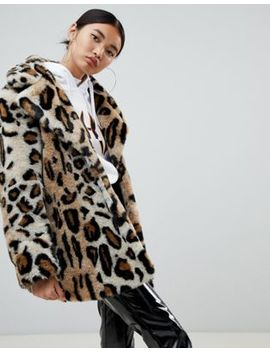 Na Kd Faux Fur Leopard Print Short Jacket by Na Kd