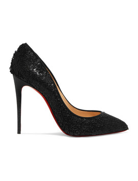Pigalle Follies 100 Sequined Leather Pumps by Christian Louboutin