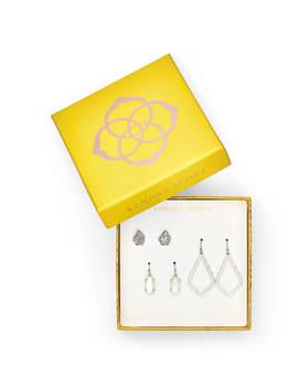 Tessa, Lemmi, & Sophia Earrings Gift Set In Silver by Kendra Scott