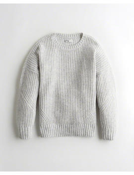 Oversized Crewneck Sweater by Hollister