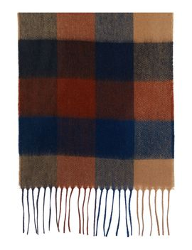 Large Tattersall Check Scarf by Barbour