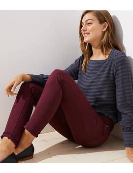 Petite Modern Double Frayed Skinny Jeans by Loft