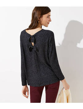 Bow Keyhole Back Top by Loft
