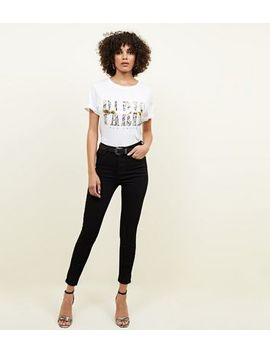 Black Premium High Rise 'lift & Shape' Jeans by New Look