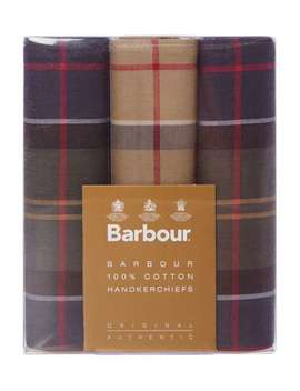 Tartan Handkerchief Boxed Gift Set by Barbour