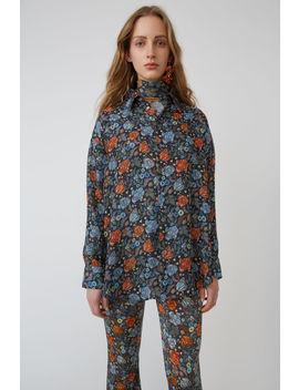 Menswear Style Shirt Orange/Navy by Acne Studios