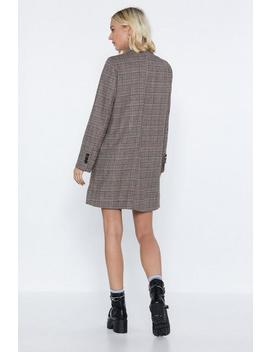 Meeting In The Am Blazer Dress by Nasty Gal