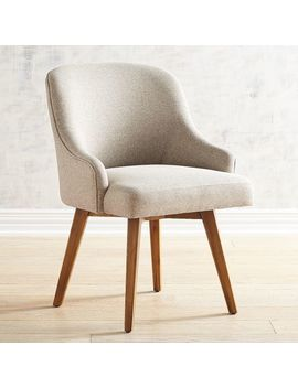 Bennie Ivory Dining Chair With Java Wood by Pier1 Imports