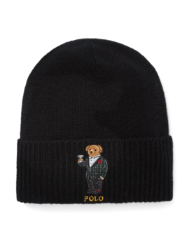 Cashmere Wool Polo Bear Hat by Ralph Lauren