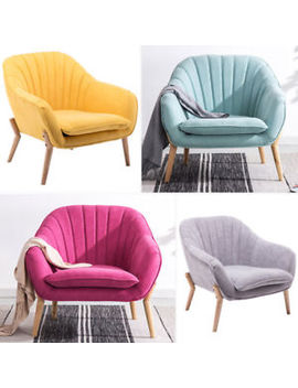 Fabric Linen Office Home Tub Chair Armchair Living Room Dining Reception Seater by Ebay Seller