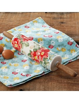 Pioneer Woman Rolling Pin, Floral Themed by The Pioneer Woman