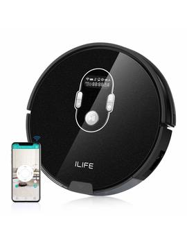 Ilife A7 Robotic Vacuum Cleaner With High Suction, Lcd Display, Multi Task Schedule, Wi Fi App Control And Dual Roller Brushes For Hard Floor And Thin Carpets by Ilife