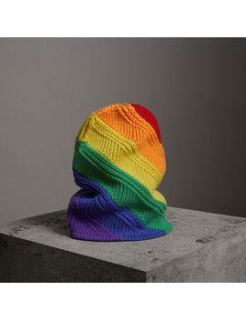 Rainbow Wool Cashmere Beanie by Burberry