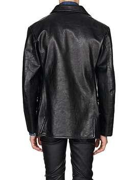 Leather Oversized Coat by Maison Margiela
