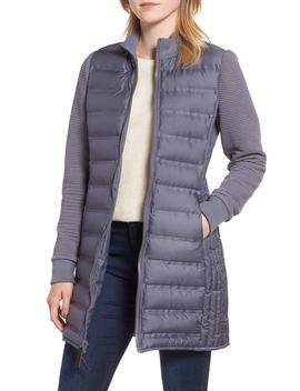 Puffer Coat With Puff Knit Sleeves by Marc New York