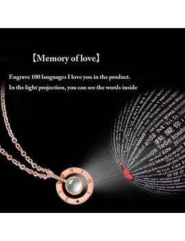 I Love You In 100 Languages 925 Silver Gold Pendant Necklace For Memory Of Love by Ebay Seller
