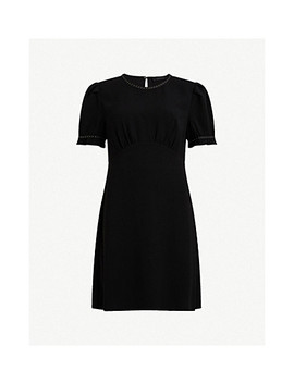 Zadie Studded Crepe Dress by Allsaints