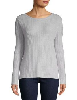 Ribbed Cashmere Top by Lord & Taylor