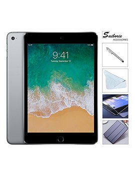 "Apple I Pad Mini 4 128 Gb W/Saiborie 49.99 Value Accessories, 7.9"" Retina Display, 2 Gb Ram, Dual Core A8 Chip, Quad Core Graphics, Wi Fi, Mimo, Bluetooth, Apple I Os 9 (Space Gray) by Apple"