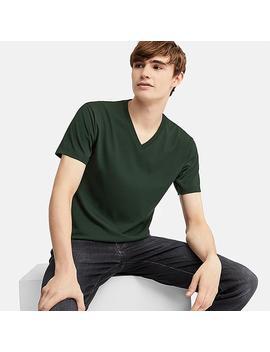 Camiseta Dry Cuello Pico Manga Corta Hombre by Uniqlo