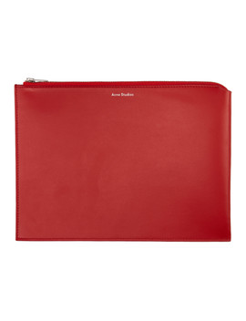 Red Malachite S Zippered Pouch by Acne Studios