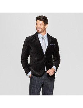 Men's Velvet Blazer   Goodfellow & Co™ Black by Goodfellow & Co