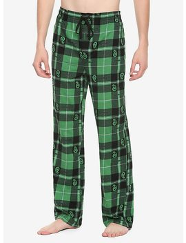 Harry Potter Slytherin Plaid Guys Pajama Pants by Hot Topic