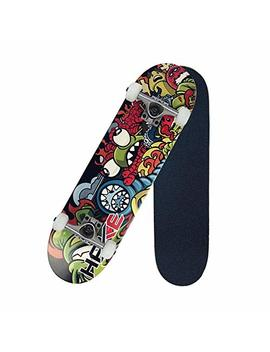 """Pro Skateboard 31"""" X 8"""" Standard Skateboards Cruiser Complete Canadian Maple 8 Layers Double Kick Concave Skate Boards … by Diyusi"""