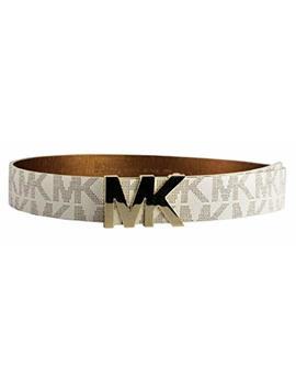 Michael Michael Kors Belt With Mk Logo Plaque by Michael Kors